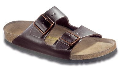 Birkenstock Arizona Hunter Brown Leather Men's Sandals