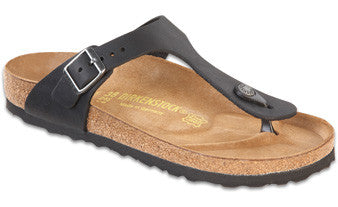 Birkenstock Gizeh Black Oiled Leather Women's Sandal