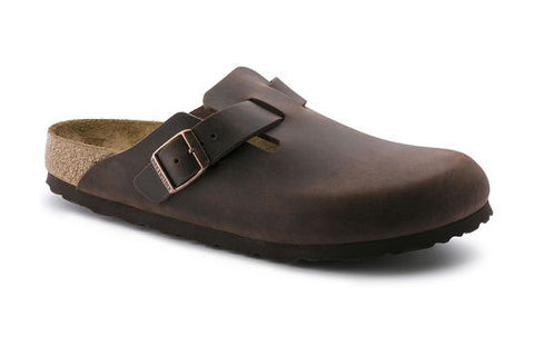 Birkenstock Boston Soft Footbed Habana Oiled Leather Clogs