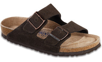 Birkenstock Arizona Soft Footbed Mocha Suede Sandal
