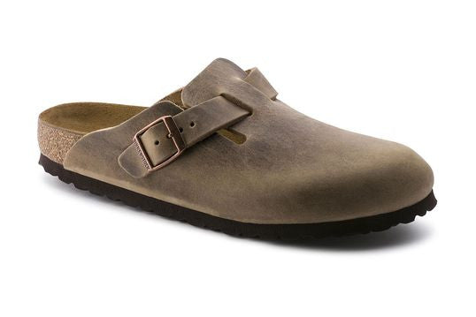 Birkenstock Boston Tobacco Oiled Leather Clogs