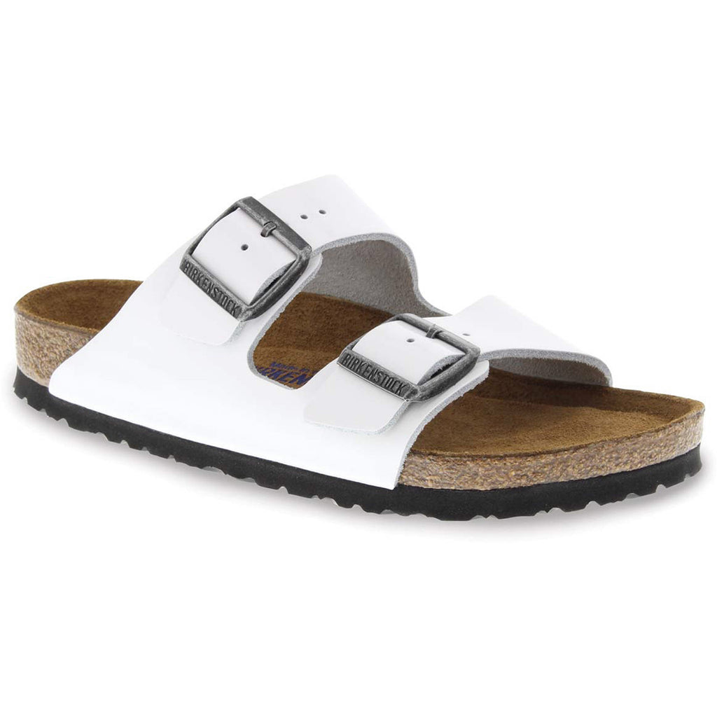 Birkenstock Arizona Soft Footbed White Patent Leather Sandal