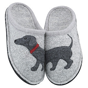 Haflinger Doggy Grey Soft Sole Wool Slipper