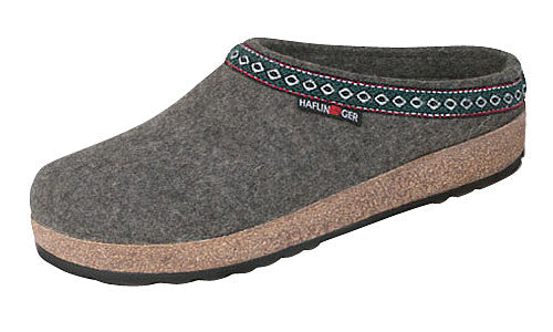 Haflinger Classic Grizzly Grey Wool Clog