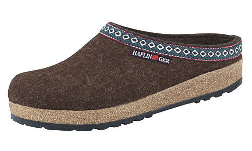 Haflinger Classic Grizzly Chocolate Wool Clog