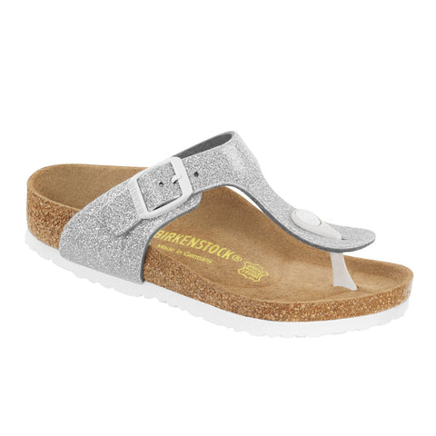 Birkenstock Gizeh Magic Galaxy Silver Birko-Flor Girl's Sandal