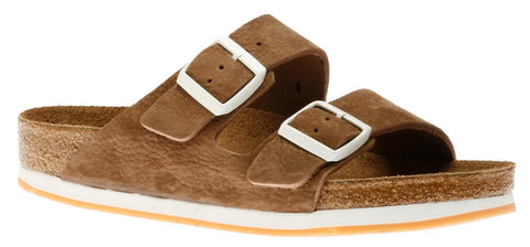 Birkenstock Arizona Soft Footbed Softy Brown Nubuck Sandal