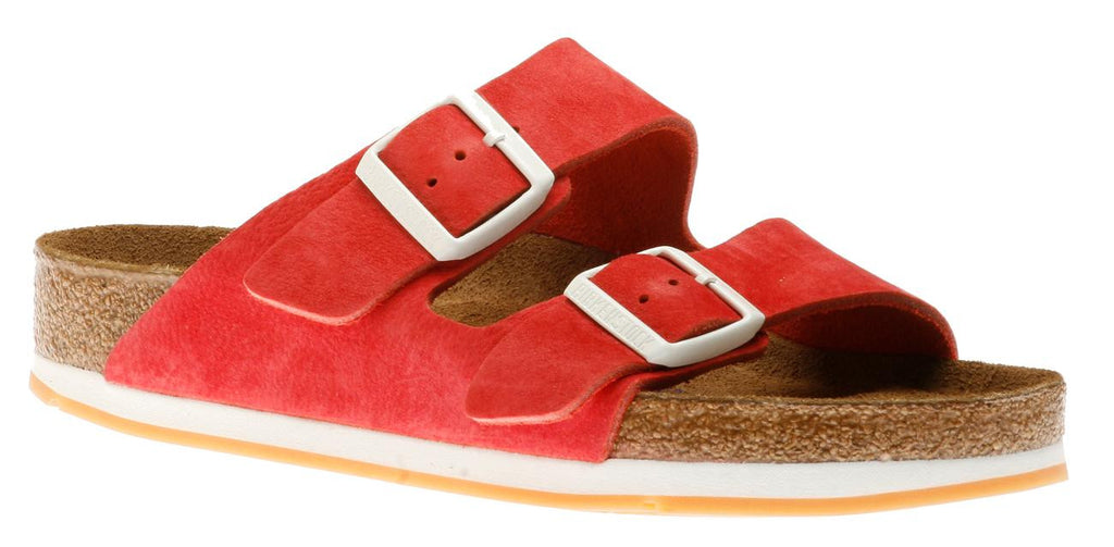 Birkenstock Arizona Soft Footbed Softy Red Nubuck Sandal
