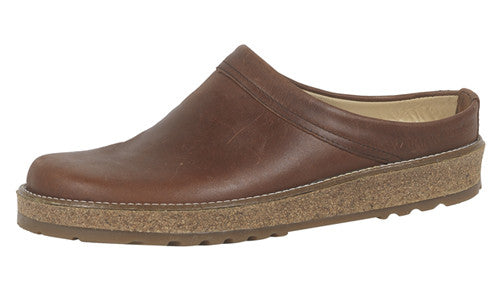 Haflinger View Brown Leather Clog