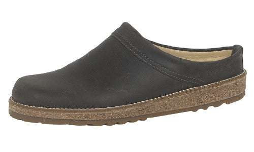 Haflinger View Graphite Leather Clog