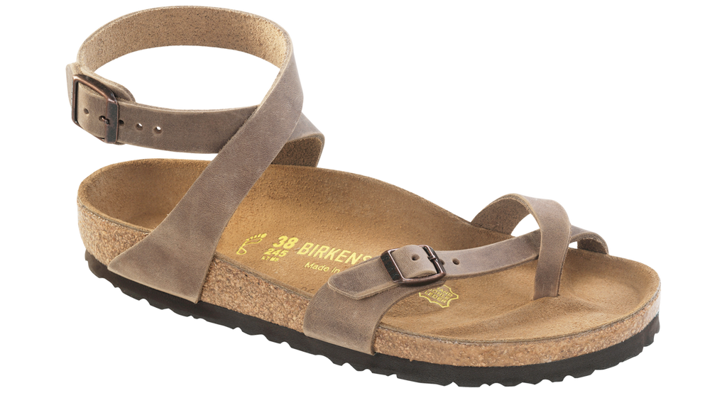 Birkenstock Yara Tobacco Brown Oiled Leather Sandal (Limited Edition)