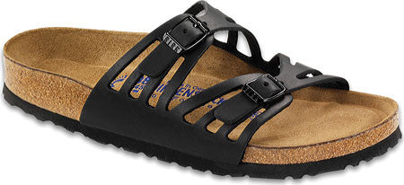 Birkenstock Granada Soft Footbed Black Oiled Leather Sandal