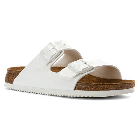 Birkenstock Arizona Soft Footbed White Leather Sandal with Anti Slip Sole