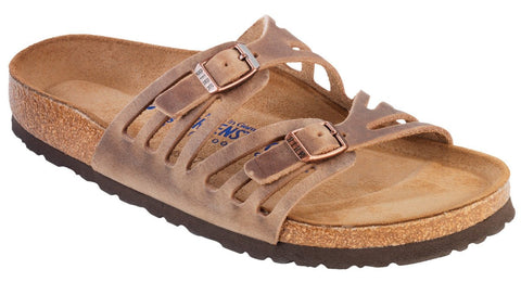 Birkenstock Granada Soft Footbed Tobacco Oiled Leather Sandal