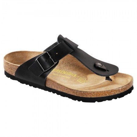 Birkenstock Medina Glossy Black Leather Sandal