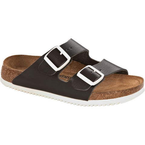 Birkenstock Arizona Soft Footbed Black Leather Sandal with Anti-Slip Sole