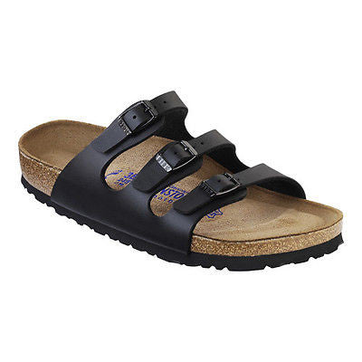 Birkenstock Florida Soft Footbed Black Birko-Flor Sandals
