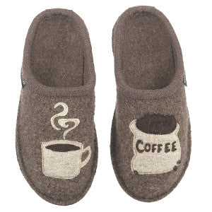 Haflinger Coffee Earth Soft Sole Wool Slipper