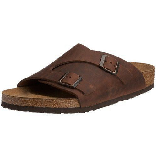 Birkenstock Zurich Terracotta Brown Waxy Leather Sandal
