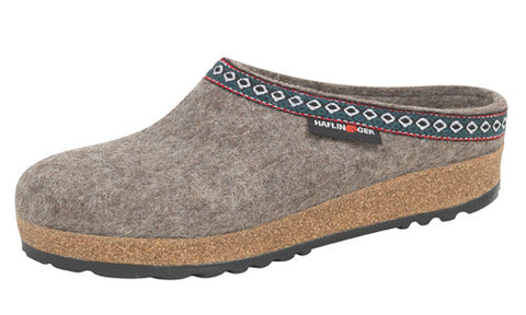Haflinger Classic Grizzly Earth Wool Clog