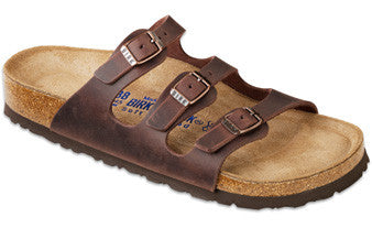 Birkenstock Florida Habana Soft Footbed Oiled Leather Sandal