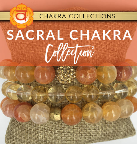 sacral chakra crystal jewelry collection