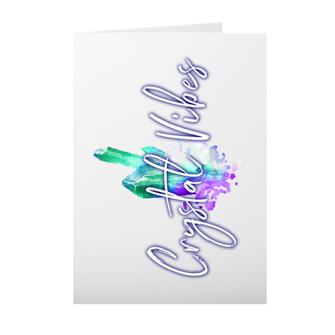 Crystal Vibes Note Card (Blank Inside)