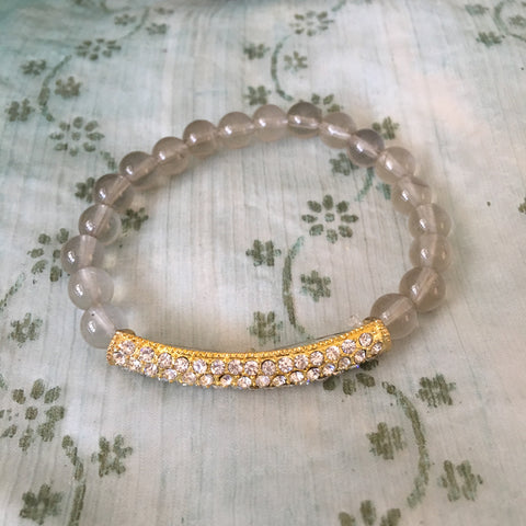 Lemon quartz gemstone healing crystal bracelet