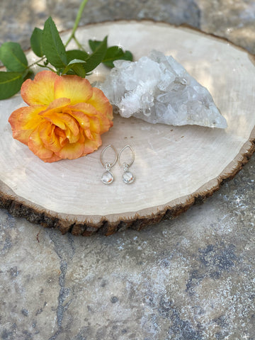 Clear Quartz Sterling Silver Earrings