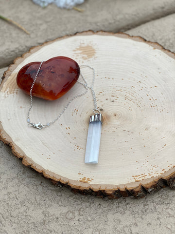 Selenite Crystal Healing Necklace