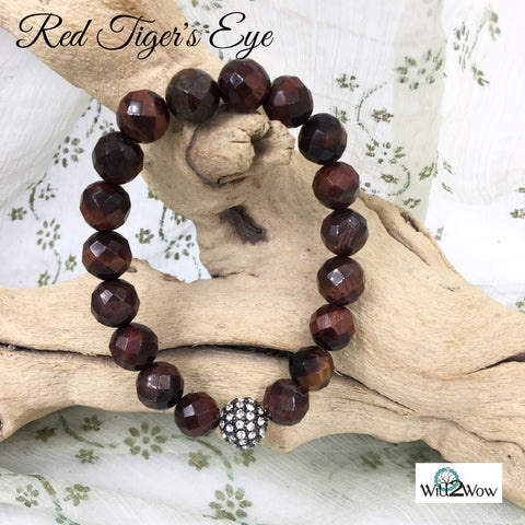 Red Tiger's Eye Crystal Healing Bracelet