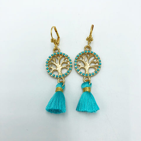 Tree of Life Tassel Earring