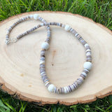 Puka Shell And Coral Necklace