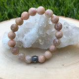 Peach Moonstone Gemstone Bracelet