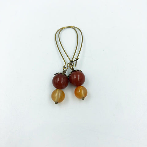 Carnelian Crystal Healing Chakra Earrings