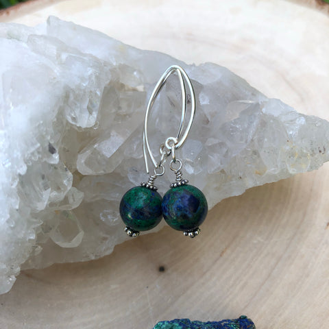 Azurite / Malachite Earrings