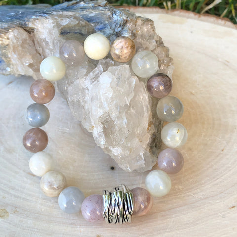 Mixed Moonstone Gemstone Bracelet