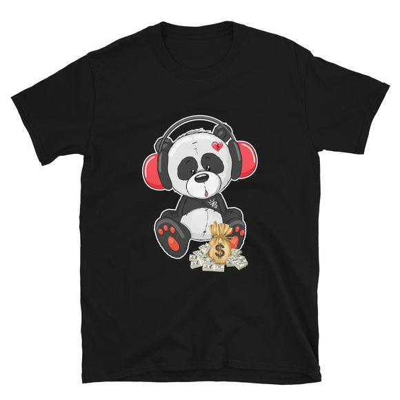 Panda Beats Short-Sleeve Unisex T-Shirt