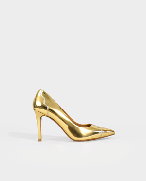CHAUSSURES MARIAGE LUXE ESCARPIN MARIÉE OR CUIR GORDANA BRIDAL SHOES PUMP GOLD LEATHER
