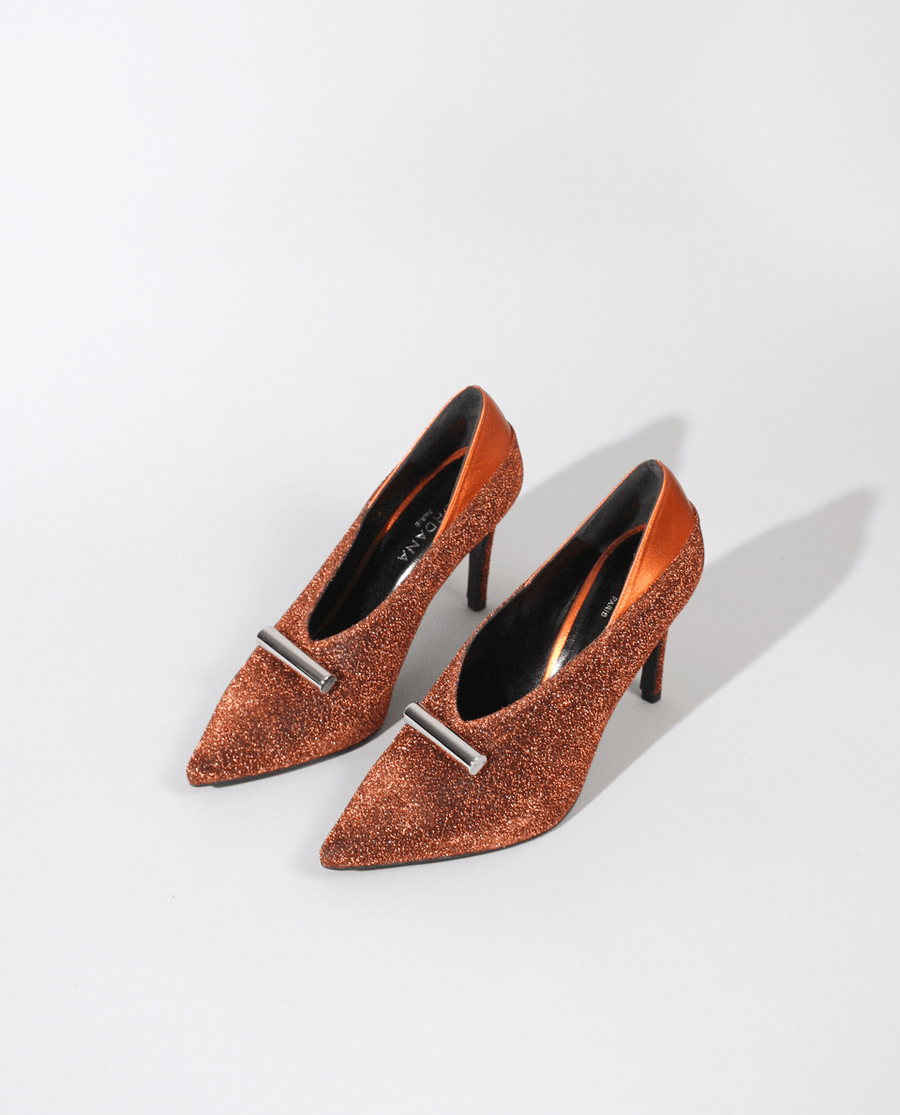ESCARPIN MAYA EN LUREX ORANGE