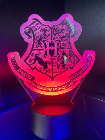 Harry Potter Houses Etched LED Display
