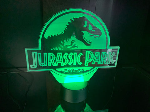 Jurassic Park Etched LED Display