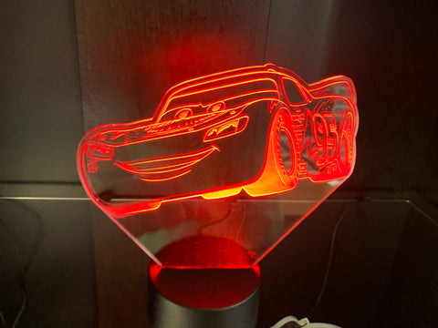 Lightning McQueen Etched LED Display