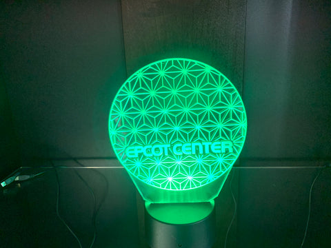 EPCOT Ball Etched LED Display