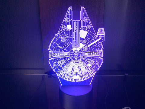Millennium Falcon Shield Etched LED Display