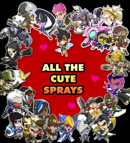 Overwatch Sticker Sprays all 26