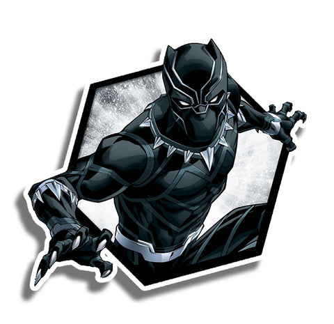 Black Panther Hexagon Sticker