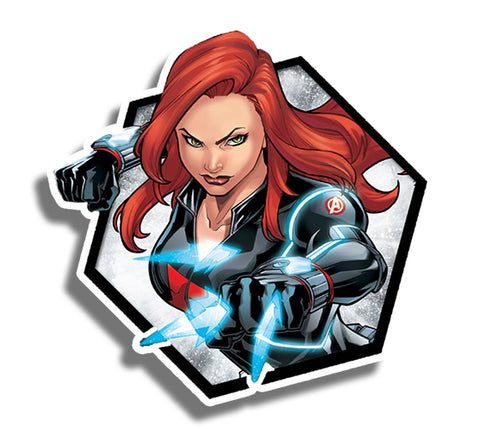 Black Widow Hexagon Sticker