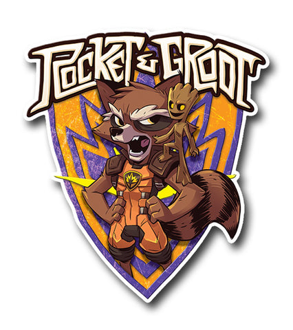Rocket and Groot, Crest Sticker