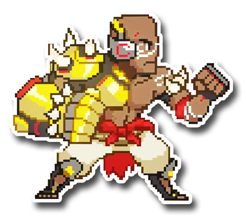 Overwatch Pixel DoomFist Sticker